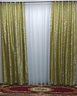 Готовые шторы Daiana (хаки), фото 1