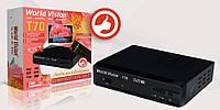 Цифровой эфирный видео тюнер приставка ресивер HD DVB-T/T2 World Vision T70 для любимой бабушки