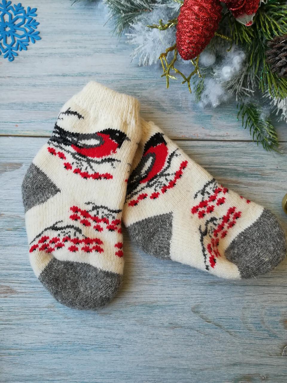 Детские носки из овечьей шерсти Снегирь, р. 24-26