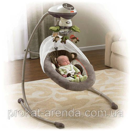 Укачивающий центр или кресло качалка фишер прайс Маленькая обезьянка Снуги