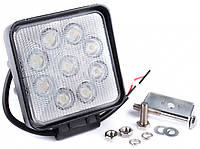 Фара дневного света 128x110x58 мм, LED 9x3 Вт, 1 шт.