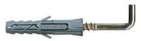 """Дюбель рамный нейлоновый с прямым крюком PR """"Wkret-Met"""", оцинкованный, 8x80"""