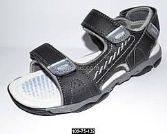 Спортивные босоножки для мальчика, 37 размер (23.4 см), 3 липучки, подростковые сандалии