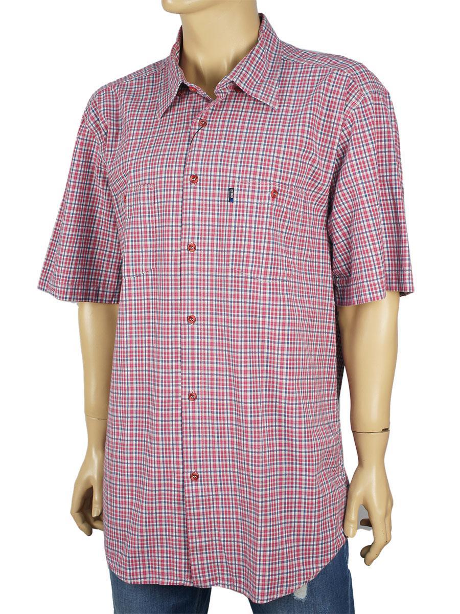 Стильная мужская рубашка в клетку размер XXL