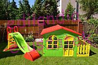 Детский игровой домик Garden House с террасой + Горка Польща