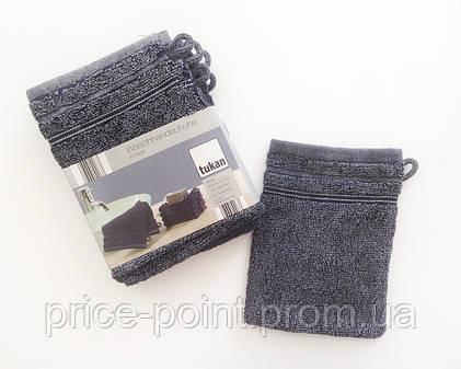 Махровая перчатка для полировки раковин, рукавица для уборки Tukan (Германия), цвет синий