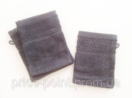 Махровая перчатка для полировки раковин, рукавица для уборки, цвет темно-серый