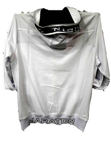 Белая мужская трикотажная кофта Maraton с капюшоном, фото 2