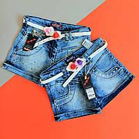 Джинсовые шорты для девочки размер 3,4,5,7,8 лет