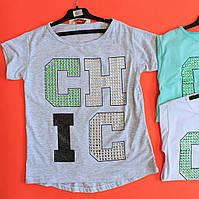 Летние туники для девочек Камни Мини Мода размер 128,140,152,164 см