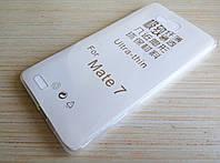 Чехол силиконовый ультратонкий для Huawei Mate 7 прозрачный