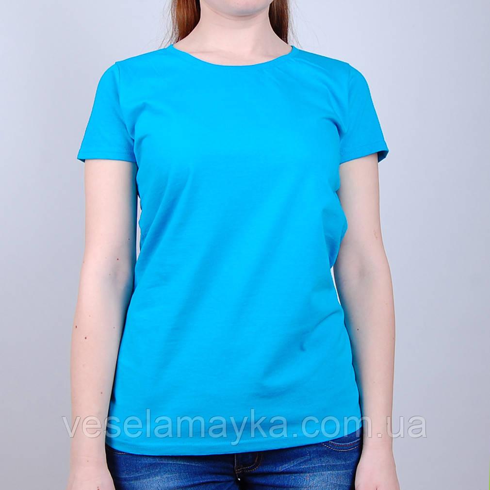 Бирюзовая женская футболка (Премиум)
