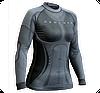 Термобелье женское Термофутболка женская POWER VIP с длинным рукавом,с ионами серебра,3D,бесшовная