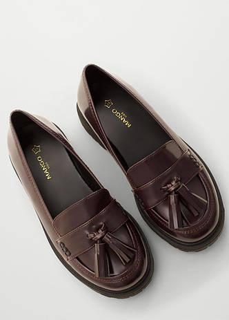 Туфли женские Mango размер 37 для девочек подростковые лоферы, фото 2