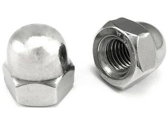 Гайка колпачковая М14 DIN 1587, ГОСТ 11860-85 из нержавеющей стали, фото 2