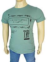 Оригінальна чоловіча футболка Madmext Man 2593 petrol великого розміру