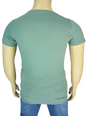 Оригінальна чоловіча футболка Madmext Man 2593 petrol великого розміру, фото 2