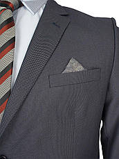 Чоловічий сірий костюм Daniel Perry Petek C.12 у великому розмірі, фото 3
