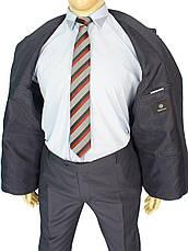 Чоловічий сірий костюм Daniel Perry Petek C.12 у великому розмірі, фото 2