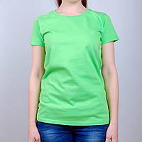 Ярко-салатовая женская футболка (Премиум)