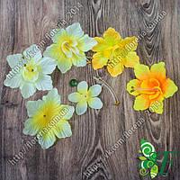 Головка Цветок с бусинами за 70 шт желтый