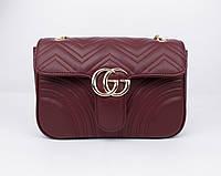 Клатч, сумочка на цепочке Gucci 1909 бордовая, Турция, фото 1