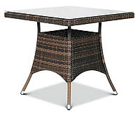 Садовый стол LUGO technorattan 80x80 для террасы, фото 1