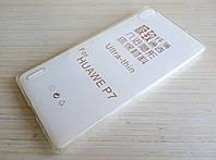 Чехол силиконовый ультратонкий для Huawei Ascend P7 прозрачный