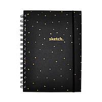 Sketchbook Golden Dots Скетчбук 120г блокнот для рисунков белые листы, фото 1