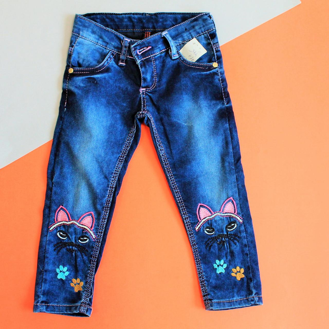 1dfac759861 Купить Детские джинсы для девочек с вышивкой Турция р.3