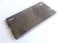 Чехол силиконовый однотонный для Huawei Ascend P7 серый