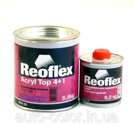 Акрилова емаль Reoflex Помаранчева 4+1 0,8 кг + 0,2 кг затверджувач