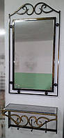 Комплект зеркало в кованой раме и консоль №1, фото 1