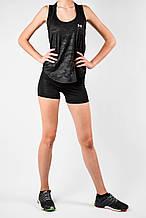 Жіночий спортивний комплект черн/еластан/камуфляж