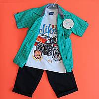 Летний костюм для мальчика Турция р. 5-6, 8-9
