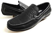 Мужские Осень-Весна Кожаные кроссовки туфли мокасины LEVIS trauss&co black model 11 Польша