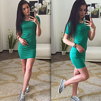 Платье по фигуре, зелёное розовое малиновое коралловое Синее, фото 1