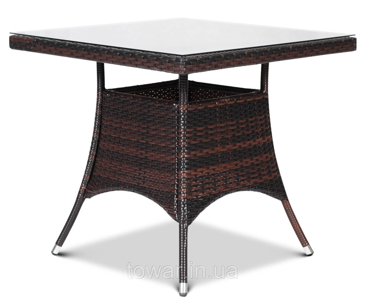 Садовый стол с стеклянным верхним стеклом LUGO