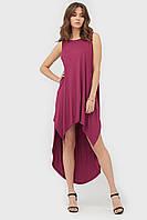 Вискозное платье без рукавов с удлиненной спинкой (Netis crd)