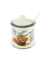Сахарница Maestro MR-20050-09 Открытка роза