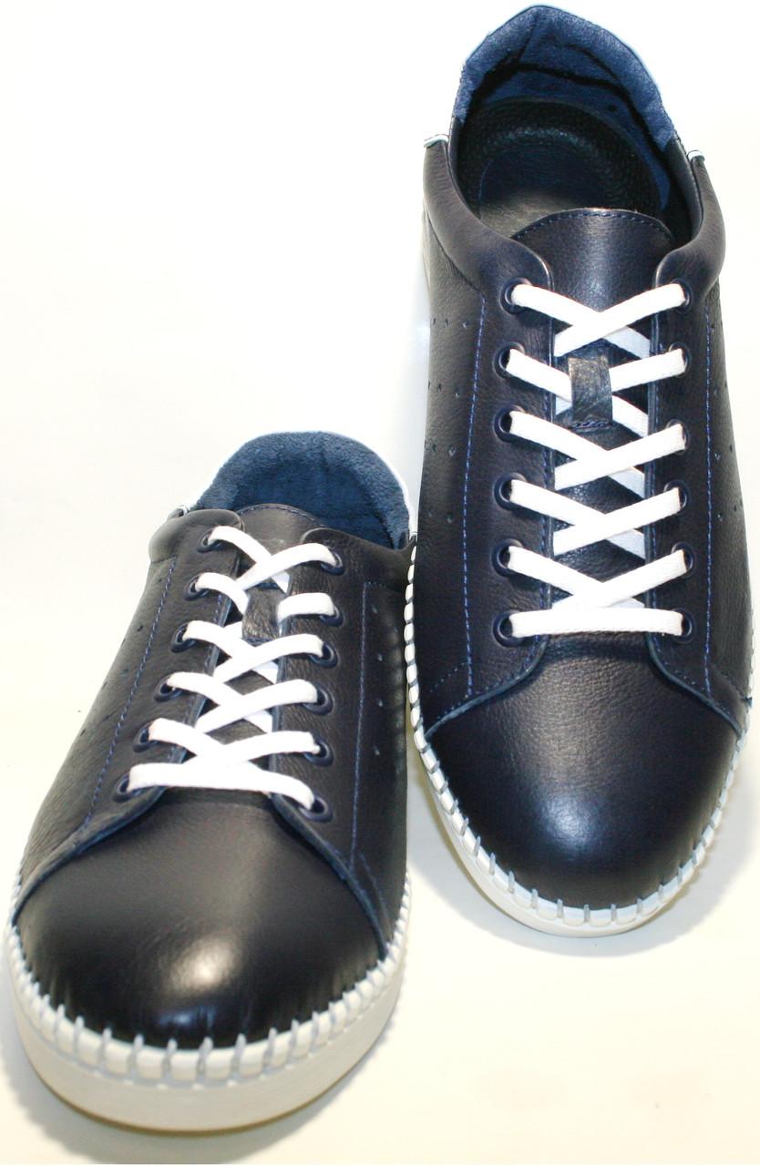 Мужские спортивные туфли кроссовки Luciano Bellini летние кожаные