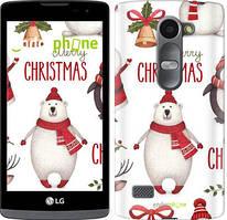 "Чехол на LG Leon H324 Merry Christmas ""4106c-403-535"""
