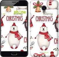 "Чехол на Meizu M3e Merry Christmas ""4106u-607-535"""