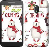 "Чехол на Motorola Moto G4 Play Merry Christmas ""4106c-860-535"""