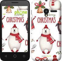 """Чехол на ALCATEL One Touch Pixi 3 4.5 Merry Christmas """"4106u-408-535"""""""