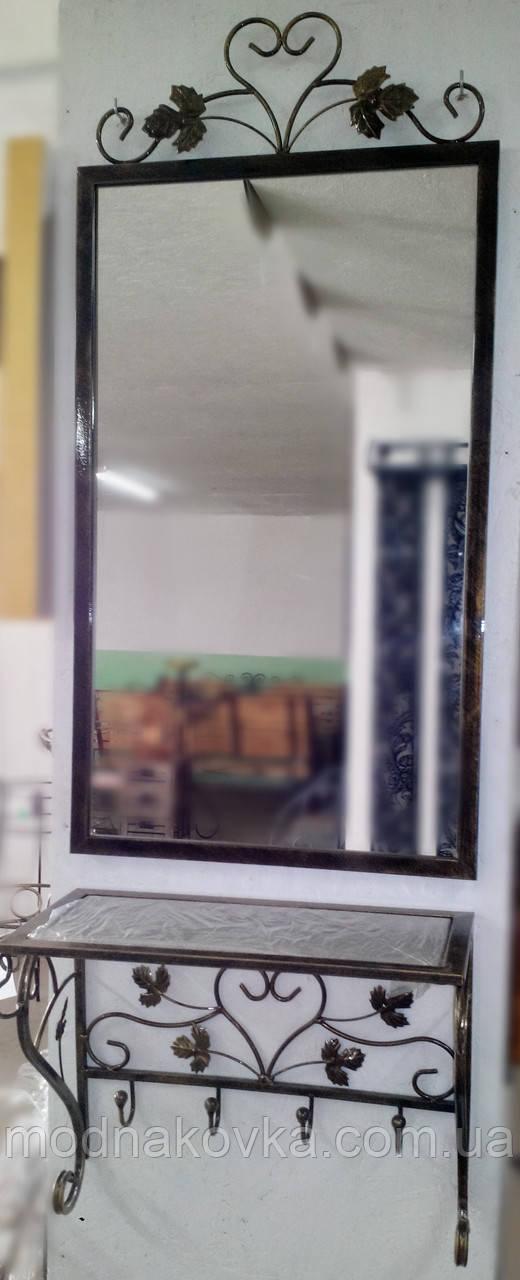 Комплект зеркало в кованой раме и консоль №5
