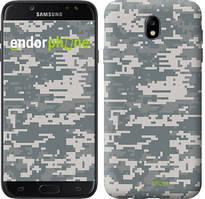 "Чехол на Samsung Galaxy J7 J730 (2017) Звёздное небо ""167c-786-535"" Камуфляж , Серый"