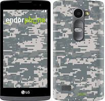 "Чехол на LG Leon H324 Звёздное небо ""167c-403-535"" Камуфляж , Серый"