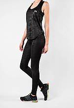Жіночий спортивний комплект чорний еластан/камуфляж