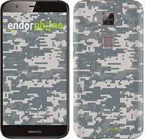 "Чехол на Huawei G8 Звёздное небо ""167c-493-535"" Камуфляж , Серый"
